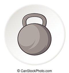 ícone, estilo, desporto, caricatura, peso