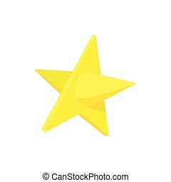 ícone, estilo, estrela, caricatura, ouro