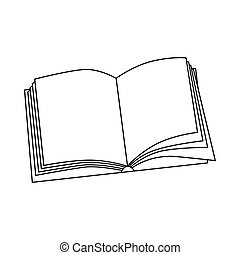 ícone, estilo, livro, esboço