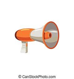 ícone, estilo, megafone, caricatura