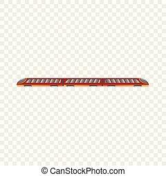 ícone, estilo, trem, caricatura, metro