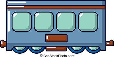 ícone, estilo, trem, caricatura, rapidamente