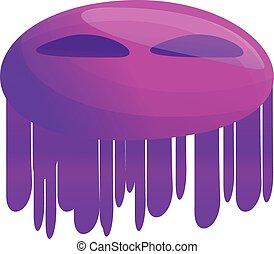 ícone, estilo, violeta, caricatura, bactérias