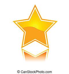 ícone, estrela