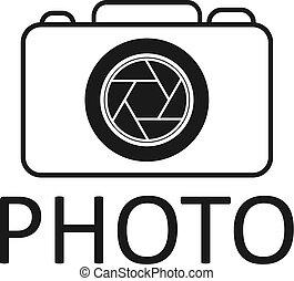 ícone, fotografia, vetorial, logotipo, desenho, ilustração