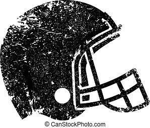 ícone, futebol, vetorial, capacete