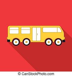 ícone, grande, estilo, autocarro, apartamento