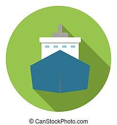 ícone, grande, navio, estilo, apartamento