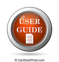 ícone, guia, usuário