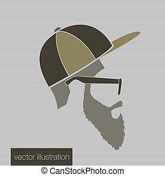 ícone, headdress, homem