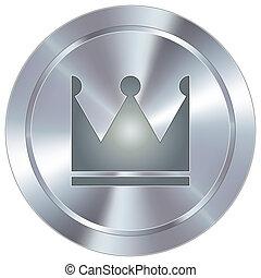 ícone, industrial, botão, coroa