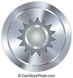 ícone, industrial, botão, sol