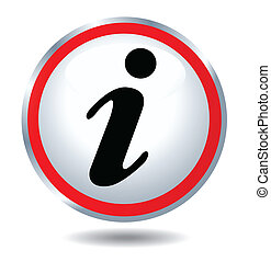 ícone, informação