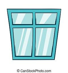 ícone, janela, estilo, caricatura