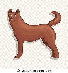 ícone, lar, estilo, cão, caricatura