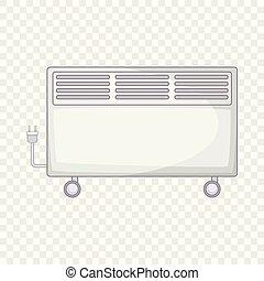 ícone, lar, estilo, caricatura, aquecedor