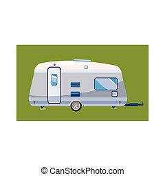 ícone, lar, estilo, mobil, caricatura