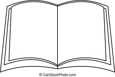 ícone, livro, esboço, narative, style.