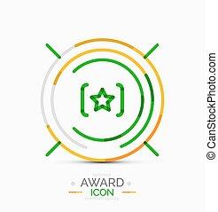 ícone, logotipo, distinção