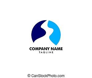 ícone, logotipo, rio, ilustração, riacho, vetorial