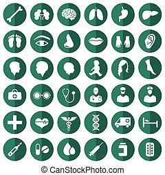ícone, médico