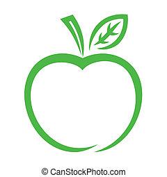 ícone, maçã