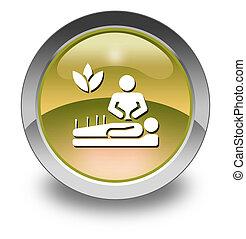 ícone, medicina, alternativa, botão, Pictograma