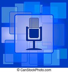 ícone, microfone