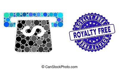 ícone, mosaico, royalty livre, angústia, atm, selo