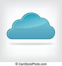 ícone, nuvem