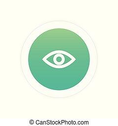 ícone, olho, sinal