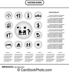 ícone, para, mochila, viajante, explorador