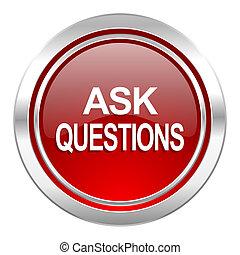 ícone, perguntar, perguntas