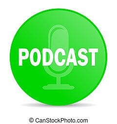 ícone, podcast, internet