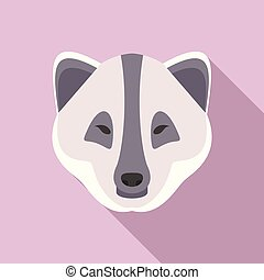 ícone, polar, estilo, raposa, apartamento