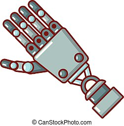 ícone, robô, caricatura, braço, style.