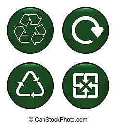 ícone, símbolo, reciclagem