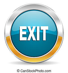 ícone, saída