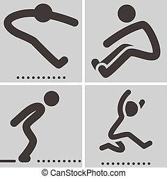 ícone, salto longo