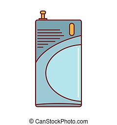 ícone, segurança lar, estilo, caricatura