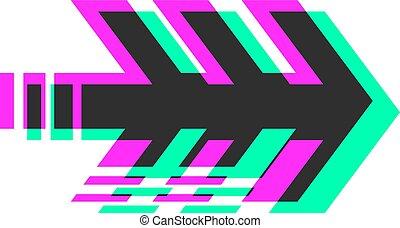 ícone seta, visual