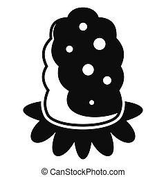 ícone, simples, estilo, semente, marijuana