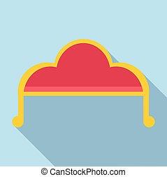 ícone, sofá, estilo, apartamento
