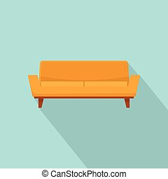 ícone, sofá, estilo, camelback, apartamento