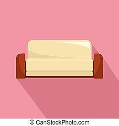 ícone, sofá, estilo, inglês, apartamento