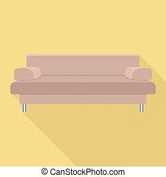 ícone, sofá, estilo, modernos, apartamento