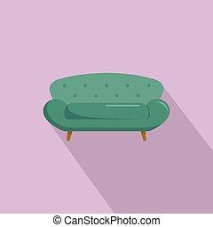 ícone, sofá, estilo, sette, apartamento
