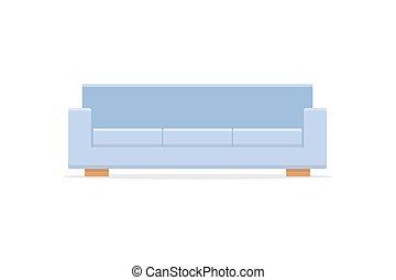 ícone, sofá, estilo, sombra, apartamento