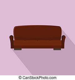 ícone, sofá, lawson, estilo, apartamento