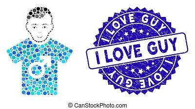 ícone, sujeito, mosaico, amor, angústia, selo